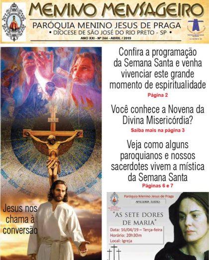 Jornal Menino Mensageiro Abril 2019