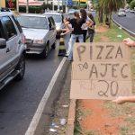Adolescentes do AJEC na Vendas das Pizzas