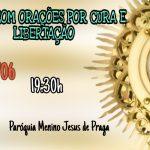 Missa de Cura e Libertação terça-feira 04/06 às 19:30hs