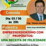 Palestra Empreendedorismo 03/06 às 20hs