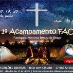 Últimas Vagas Masculinas 1ºFAC Menino Jesus de Praga