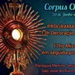 Programação Corpus Christi