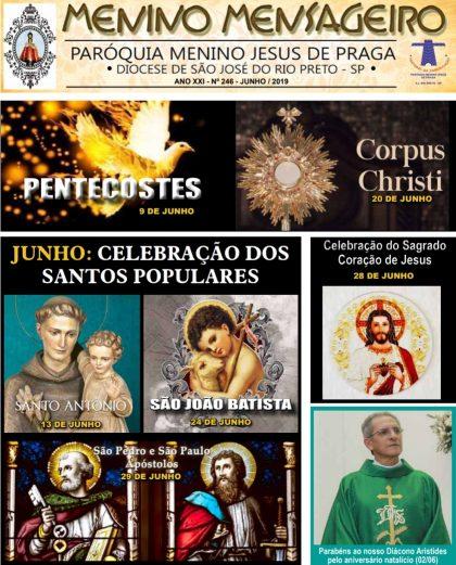 Jornal Menino Mensageiro Edição Junho 2019