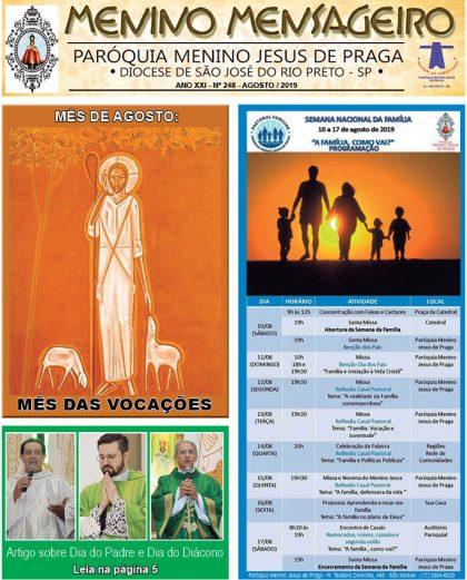 Jornal Menino Mensageiro Edição Agosto 2019