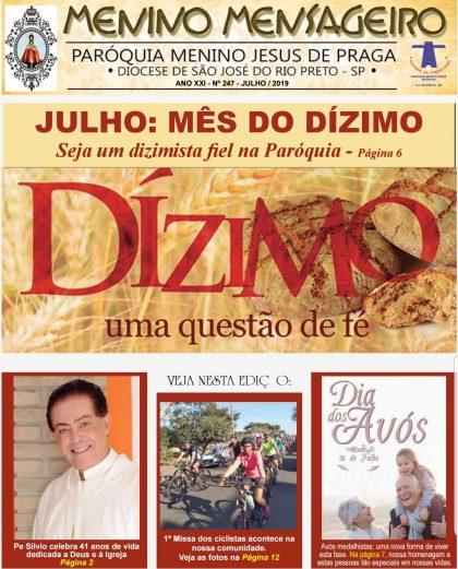 Jornal Menino Mensageiro Edição Julho 2019