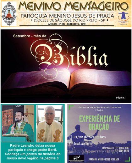 Jornal Menino Mensageiro Edição Setembro 2019