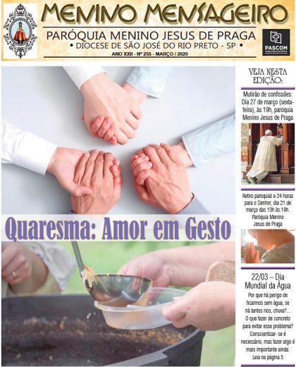 Jornal Menino Mensageiro Edição Março 2020