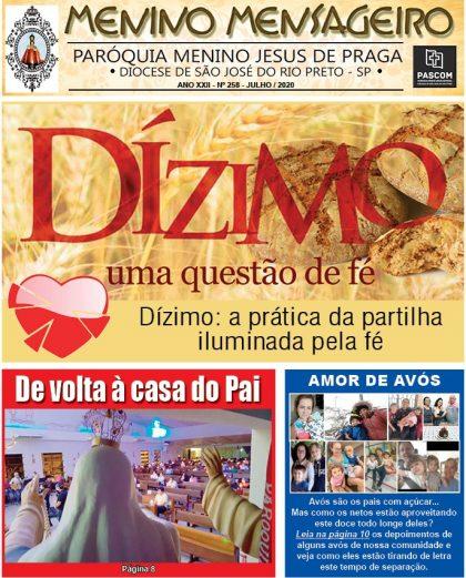 Jornal Menino Mensageiro Edição Julho 2020