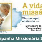 Outubro: Mês das Missões – Mensagem do padre Silvio