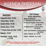 Novos horários de missas da paróquia a partir do dia 12/12/2020